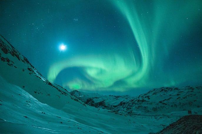 Polarlichter Aufnahme