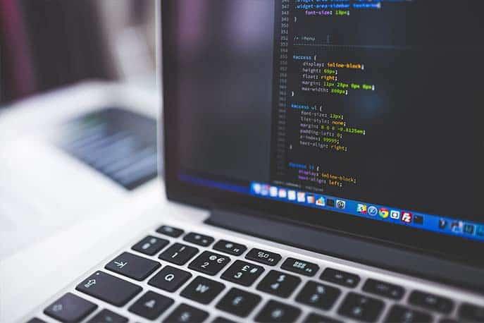 Bildschirm mit HTML-Code