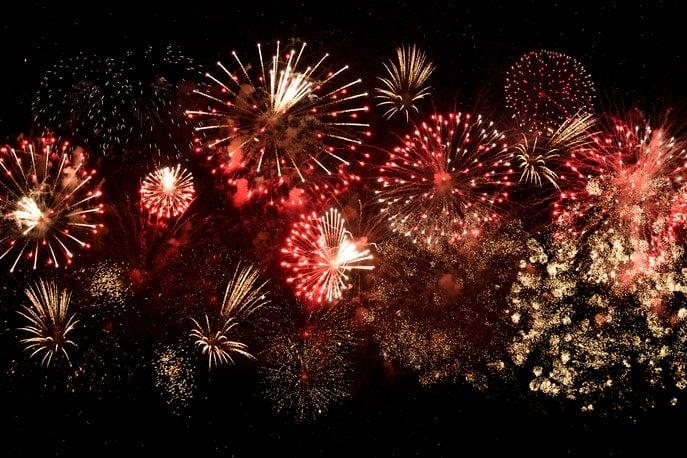 Eventfilm-Szene mit Feuerwerk